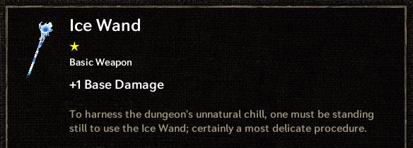 Tallowmere - Ice Wand Description